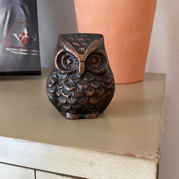 Brass Owl Figurine/ Paper Weight
